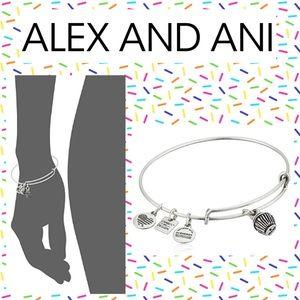 Alex & Ani Silver Cupcake Bangle Bracelet
